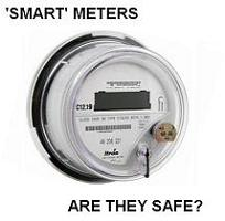 Image of smart meter with question 'Are they safe?'