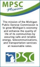 Mission and logo of the Michigan Public Service Commission