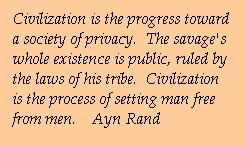 Quotation from Ayn Rand on privacy