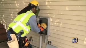 Kalamazoo Channel 3 pic of meter installer