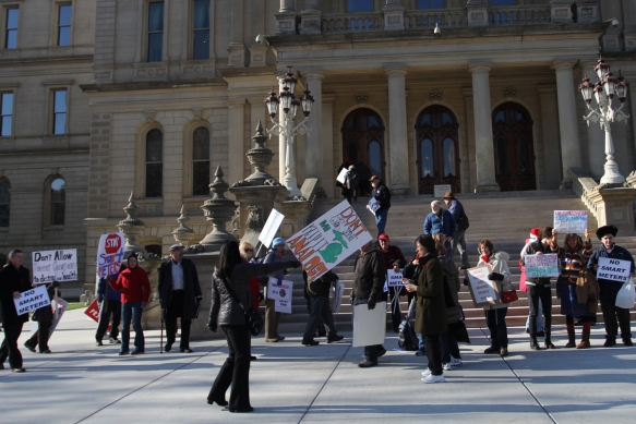 Demonstration at state capitol