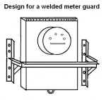 Design sketch for a welded meter guard