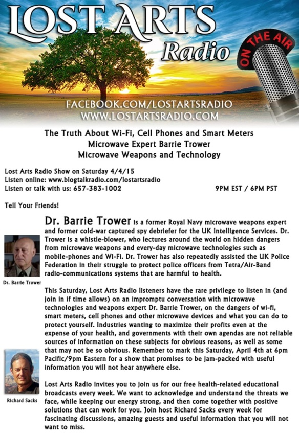 Barrie Trower radio inteview graphic